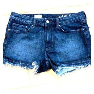 Gap Dark Wash Cut-off Jean Shorts